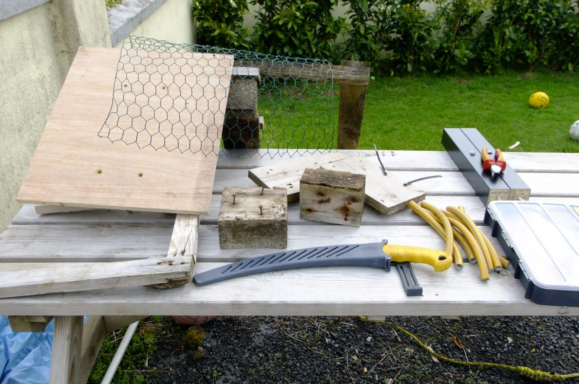 tools ready to build bug house