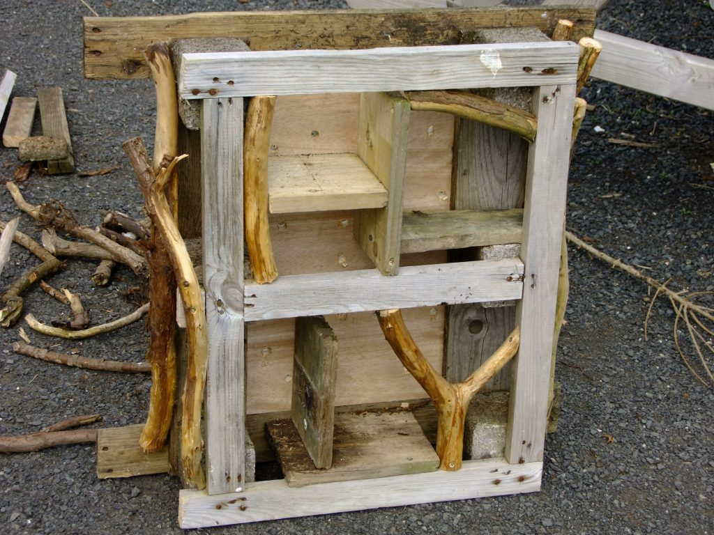 pallet made into a frame